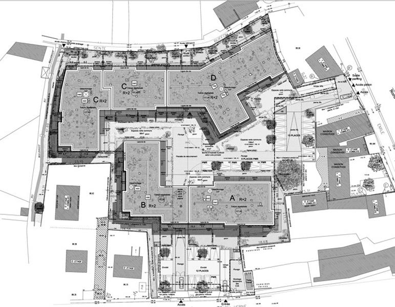 95 logements plaisir gsma architecture for Plan masse architecture