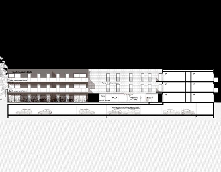 95 logements plaisir gsma architecture for Courant architectural